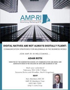 Adam Roth: Business Communication Strategies For Millennials @ AMP-RI