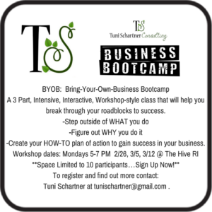 TS Consulting Presents: BYOB Bring Your Own Business Bootcamp @ The Hive RI | North Kingstown | Rhode Island | United States